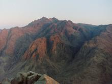A view of the the sun rising from Mt Sinai